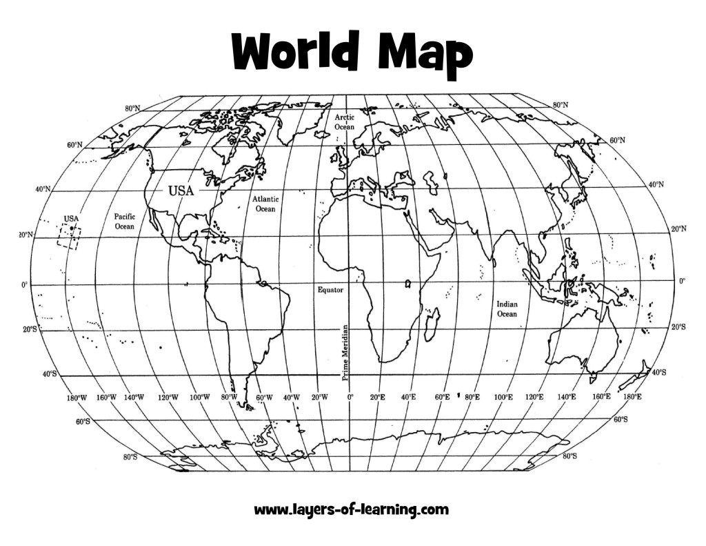 Comprehensive image throughout world map with latitude and longitude lines printable